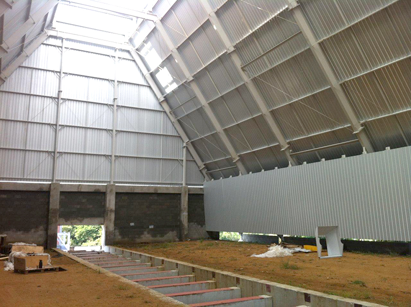 silo horizontal pátio cavaco
