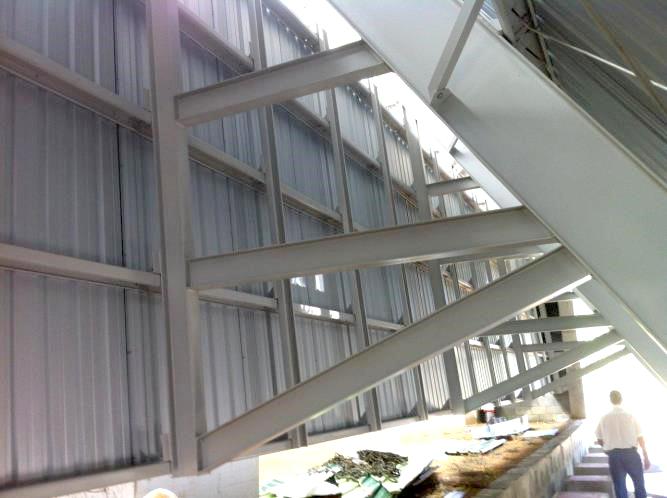 silo horizontal biomassa cavaco estrutura