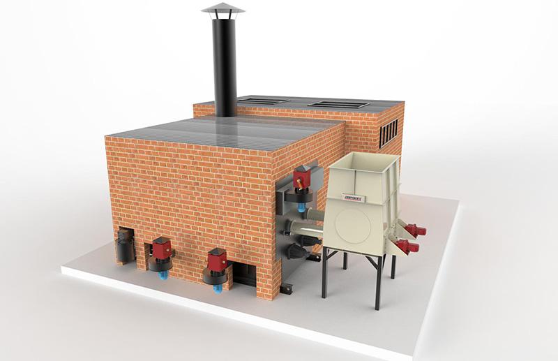 queimador fornalha grelha móvel biochamm